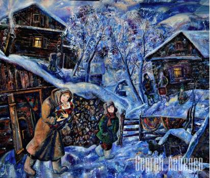 Картина  на холсте Зима