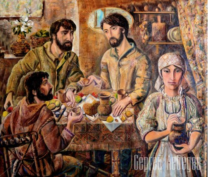 Картина на холсте Завтрак в Эммаусе