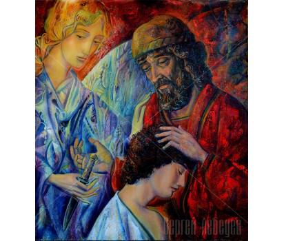 Картина на холсте Жертвоприношение Авраама