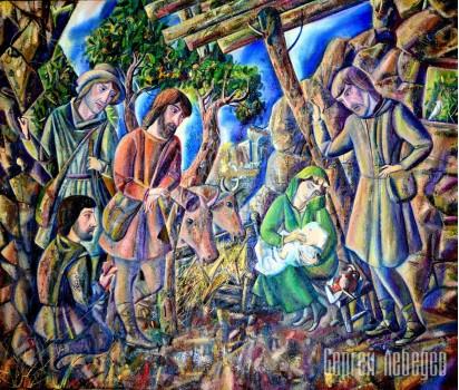 Картина на холсте Поклонение пастухов