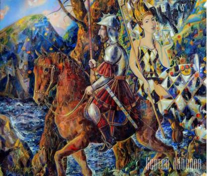 Картина на холсте Рыцарь и Судьба