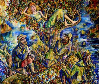 Картина на холсте Диана и охотники