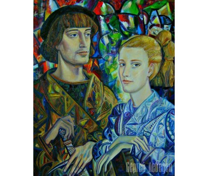 Картина на холсте Гамлет и Офелия