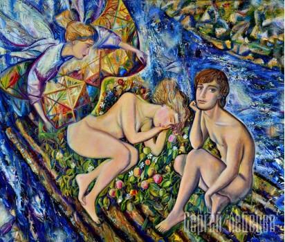 Картина на холсте Изгнание из Рая